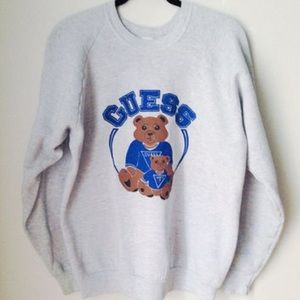 vintage guess bear sweater